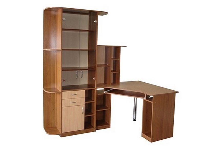Галерея компьютерных столов с шкафом фото.