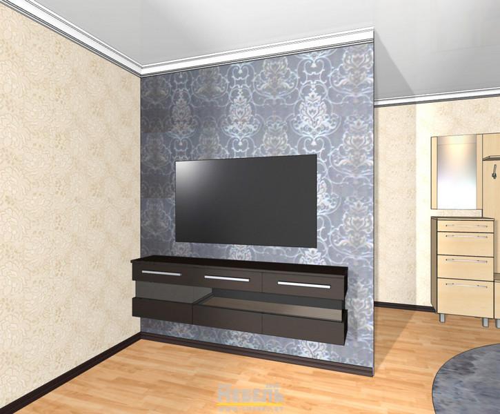 3D проекты. Тумба в гостиной