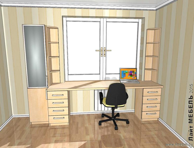 3D проекты. Стол с пеналом