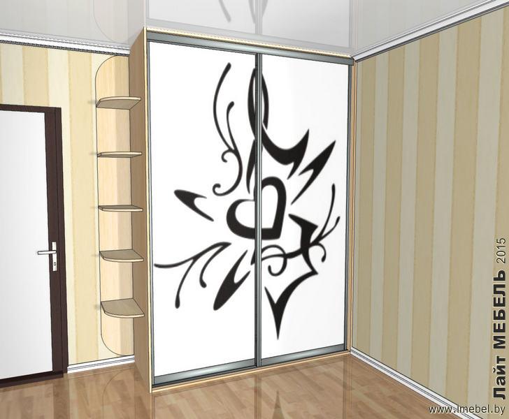 3D проекты. Шкаф-купе с рисунком Арт.32