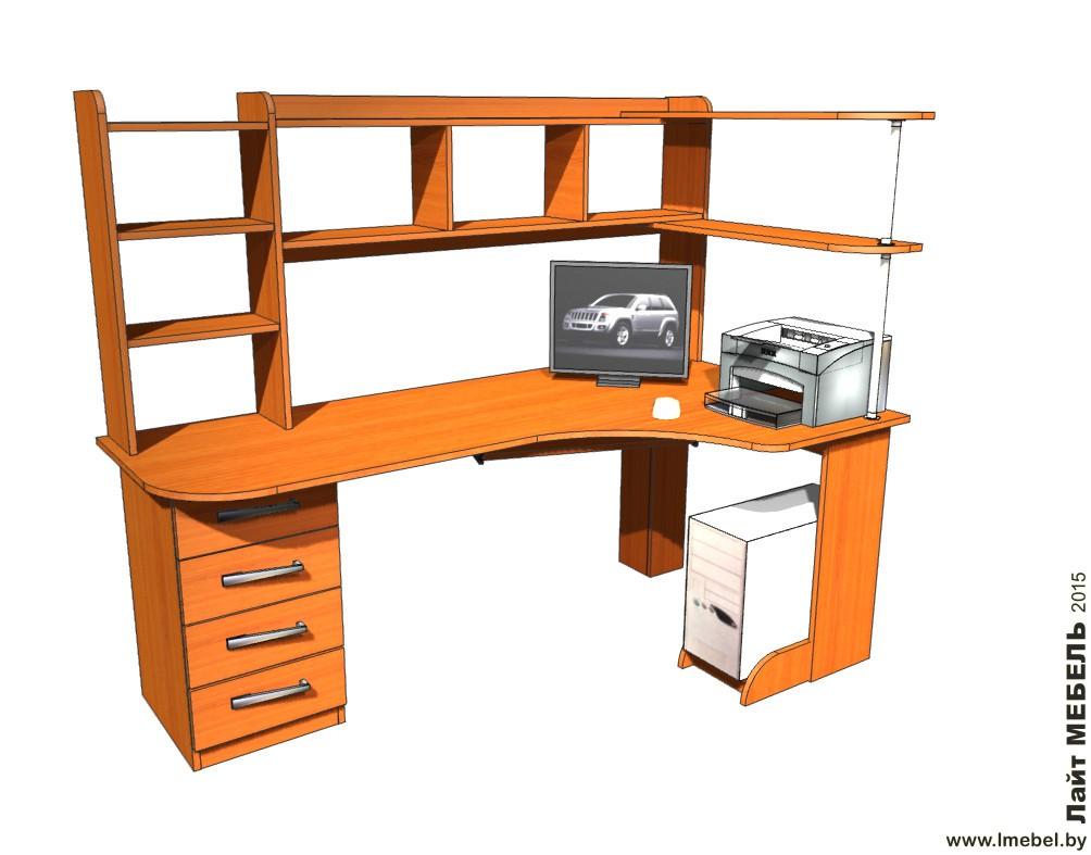3D проекты. Стол Вишня оксфорд