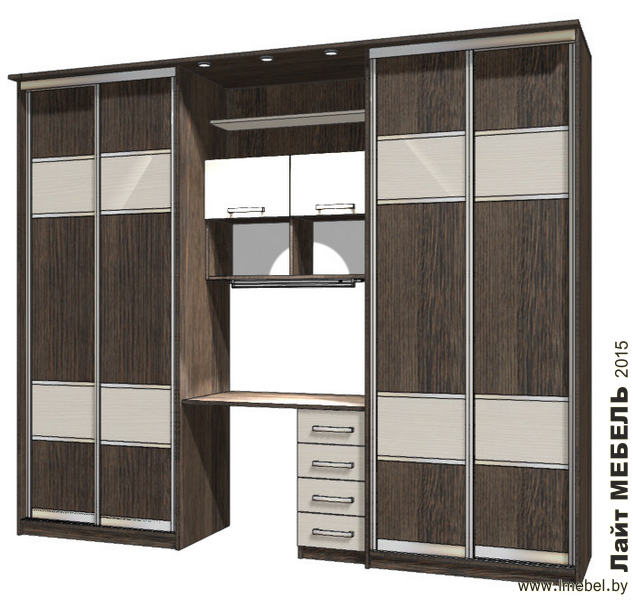 3D проекты. Два шкафа-купе и стол